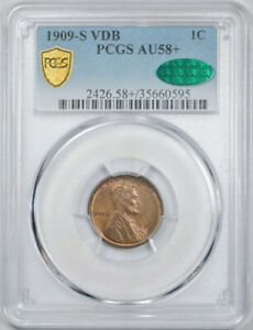 Click now to see the BUY IT NOW Price! 1909 S VDB 1C LINCOLN WHEAT CENT PCGS AU 58  CAC APPROVED PLUS GRADE