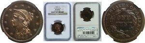 Click now to see the BUY IT NOW Price! 1848 LARGE CENT NGC PR 66 RB N 19