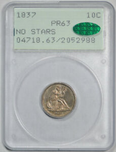 Click now to see the BUY IT NOW Price! 1837 10C PROOF SEATED LIBERTY DIME PCGS PR 63 RATTLER HOLDER CAC APPROVED