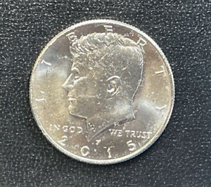 2015 P CHOICE BU  KENNEDY US HALF DOLLAR COIN  SEE COMBINED SHIPPING  FREE RULE