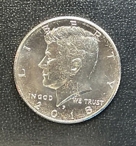2018 P CHOICE BU  KENNEDY US HALF DOLLAR COIN  SEE COMBINED SHIPPING  FREE RULE