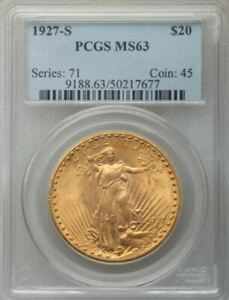 Click now to see the BUY IT NOW Price! 1927 S $20 ST GAUDENS MS63 PCGS  PA50217677