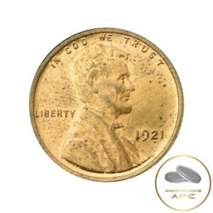 1921 LINCOLN WHEAT CENT RED BU    GREAT STRIKE AND STRONG WHEAT