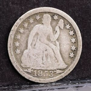 1853 LIBERTY SEATED DIME   WITH ARROWS   VG  38791