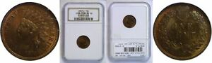 1873 INDIAN HEAD CENT NGC MS 64 RB OPEN 3