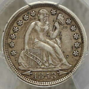 1853 SEATED LIBERTY DIME WITH ARROWS PCGS XF 40 CLASSIC TYPE COIN