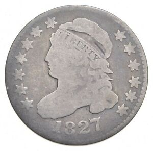 1827 CAPPED BUST DIME  0216