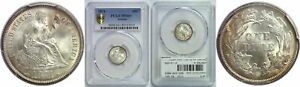 Click now to see the BUY IT NOW Price! 1874 SEATED LIBERTY DIME PCGS MS 66  ARROWS