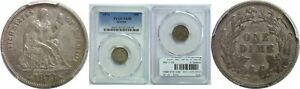 1873 SEATED LIBERTY DIME PCGS XF 40 ARROWS