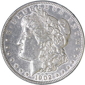 1902 MORGAN SILVER DOLLAR ABOUT UNCIRCULATED AU POLISHED SEE PICS H271