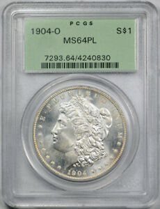 1904 O $1 MORGAN DOLLAR PCGS MS 64 PL UNCIRCULATED PROOF LIKE OGH EXCEPTIONAL
