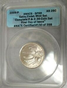 2009 P AMERICAN SAMOA QUARTER ANACS SP69   25C SMS SATIN FIRST DAY MS