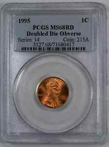 1995 DDO LINCOLN MEMORIAL CENT 1C PCGS MS 68 RED UNC   DOUBLED DIE OBV  417