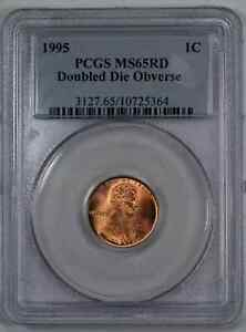 1995 DDO LINCOLN MEMORIAL CENT 1C PCGS MS 65 RED UNC   DOUBLED DIE OBV  364