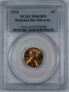 1972 DDO LINCOLN MEMORIAL CENT 1C PCGS MS 65 RED UNC   DOUBLED DIE OBV  280