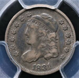 1831 CAPPED BUST HALF DIME PCGS VF 30 WONDERFULLY WHOLESOME GLOSSY BLUE AND GREY