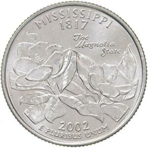 2002 P STATE QUARTER MISSISSIPPI CHOICE BU CN CLAD US COIN