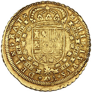 Click now to see the BUY IT NOW Price! [58527] SPAIN 8 ESCUDOS 1717 SEVILLE KM 260 GOLD 26.92