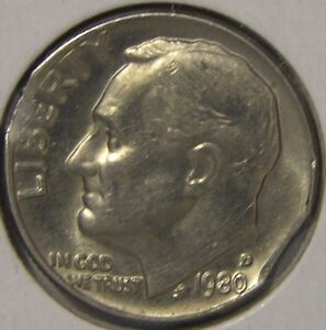 Click now to see the BUY IT NOW Price! 1980 D ROOSEVELT DIME  DOUBLE CLIPPED PLANCHET   MINT ERROR COIN  AE 929