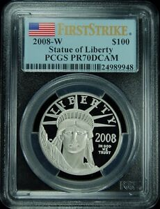 Click now to see the BUY IT NOW Price! 2008 W $100 PLATINUM EAGLE FIRST STRIKE PCGS PR70DCAM