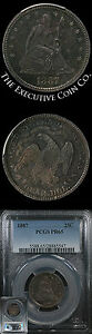 1887 SEATED LIBERTY QUARTER PCGS PR65 STRIKING COLOR WHEN MOVED IN HAND