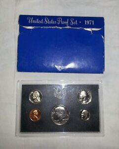 Click now to see the BUY IT NOW Price! 1971 S PROOF SET   5 US PROOF COINS W/BOX & MINT ERRORS
