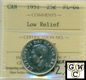 Click now to see the BUY IT NOW Price! 1951 CANADA 25 CENT COIN ICCS CERTIFIED PL 64 LOW RELIEF