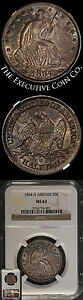 Click now to see the BUY IT NOW Price! 1854 O SEATED HALF DOLLAR NGC MS63 ARROWS A BIT DARK BUT STILL NICE EYE APPEAL