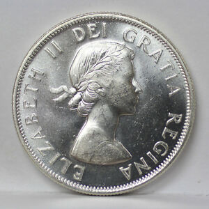 Click now to see the BUY IT NOW Price! 1954 CANADA SILVER HALF DOLLAR KM53 ELIZABETH II   UNC 01093847G