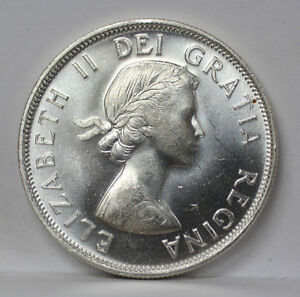 Click now to see the BUY IT NOW Price! 1954 CANADA SILVER HALF DOLLAR KM53 ELIZABETH II   UNC 01093844G
