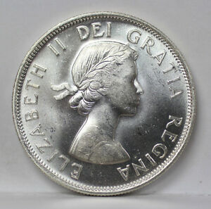 Click now to see the BUY IT NOW Price! 1954 CANADA SILVER HALF DOLLAR KM53 ELIZABETH II   UNC 01093842G