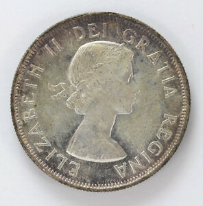 Click now to see the BUY IT NOW Price! 1954 CANADA SILVER HALF DOLLAR ELIZABETH II KM53   CH BU 01283500G