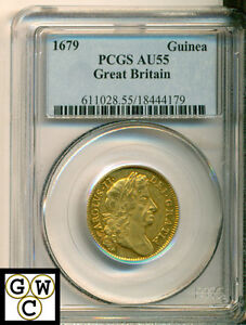 Click now to see the BUY IT NOW Price! 1679 GREAT BRITAIN PCGS AU 55 1 GUINEA