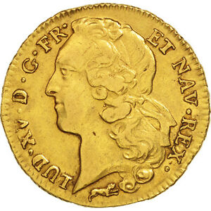 Click now to see the BUY IT NOW Price! [49678] FRANCE LOUIS XV 2 LOUIS D'OR 1766 ORLANS GOLD KM:519.15