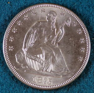 Click now to see the BUY IT NOW Price! ESTATE FIND 1875 S SEATED LIBERTY  HALF DOLLAR   C6509