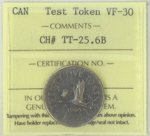 Click now to see the BUY IT NOW Price! CANADA 1965 25 CENTS TEST TOKEN ICCS CERTIFIED VF 30 CHARLTON NICKEL REEDED