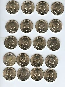 Click now to see the BUY IT NOW Price! 1953 D FRANKLIN HALF DOLLAR BU UNCIRCULATED ROLL  20 COINS   ALL FULL BELL LINES