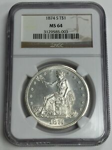 Click now to see the BUY IT NOW Price! 1874 S TRADE DOLLAR NGC MS 64