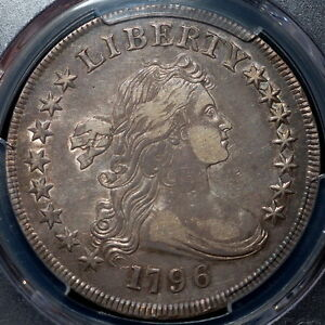 Click now to see the BUY IT NOW Price! 1796 DRAPED BUST DOLLAR PCGS XF45