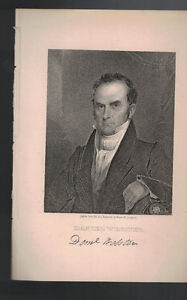 DANIEL WEBSTER VINTAGE PRINT JAMES BARTON LONGACRE