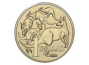 2015  MOB OF ROOS KANGAROO $1 AUSTRALIA UNCIRCULATED COIN MOR ONE DOLLAR