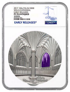Click now to see the BUY IT NOW Price! 2017 PALAU TIFFANY ART WELLS CATHEDRAL 1 KILO SILVER $50 NGC PF70 UC ER SKU47278