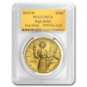 Click now to see the BUY IT NOW Price! 2015 HIGH RELIEF AMERICAN LIBERTY GOLD MS 70 PCGS  GOLD FOIL FS