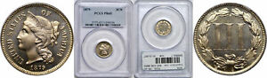 1879 NICKEL THREE CENT PIECE PCGS PR 65