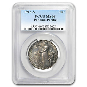Click now to see the BUY IT NOW Price! 1915 S PANAMA PACIFIC HALF DOLLAR MS 66 PCGS   SKU 118373