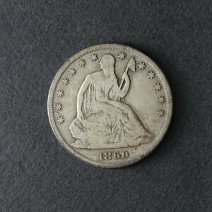 1860 S SEATED HALF DOLLAR GREAT DEALS FROM THE TECC BARGAIN BIN