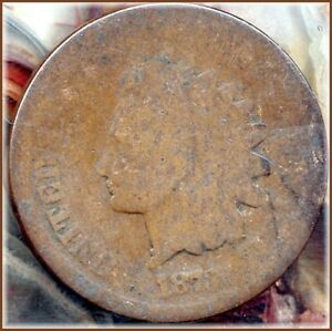 1873 INDIAN CENT OPEN 3   DATE BARGAIN PRICED JUST $9.50