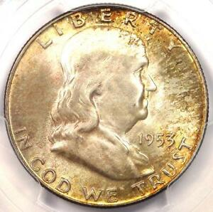 Click now to see the BUY IT NOW Price! 1953 D FRANKLIN HALF DOLLAR 50C   PCGS MS66  FBL   PQ PLUS GRADE   $1 100 VALUE
