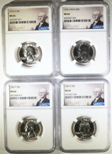 Click now to see the BUY IT NOW Price!  4  WASHINGTON QUARTERS: 1972 D 1976 D 1981 P&D ALL NGC MS 66