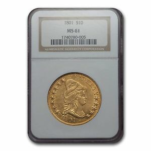 1801 $10 TURBAN HEAD GOLD EAGLE MS 61 NGC   SKU 132546
